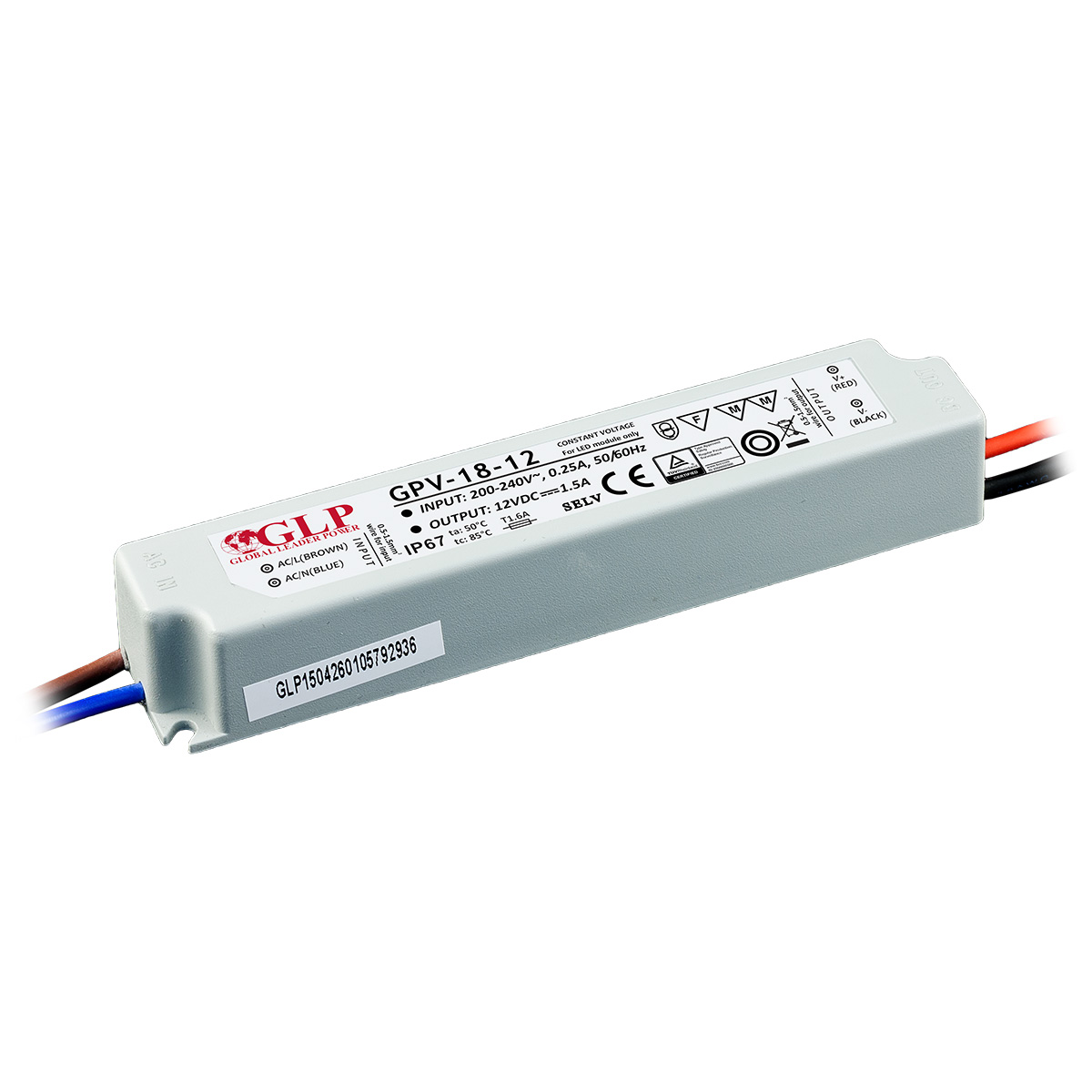 Gpv 18 Global Leader Power Led Driver 12v Circuit 100w Switched Mode Supply